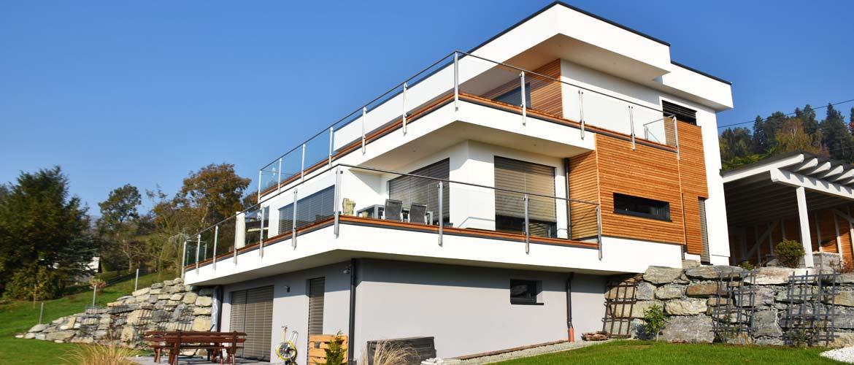 Holzhaus Flachdach